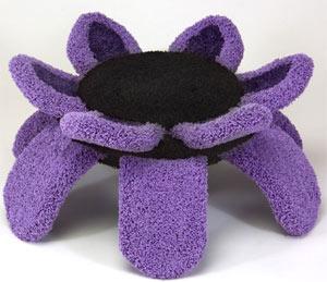 spider flower cat bed