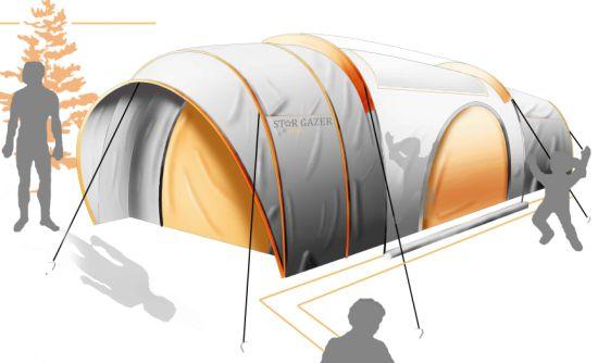 star gazer 1  sc 1 st  Designbuzz & Solar-powered LEDs light up the Star Gazer tent at night - Designbuzz