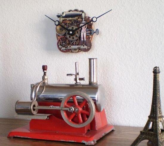 steampunk clockworks zeppelin clock 02