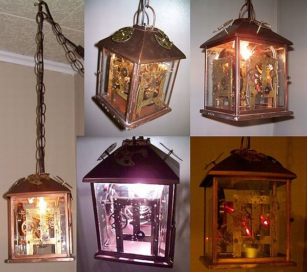 steampunk lamp with 2 circuits 01