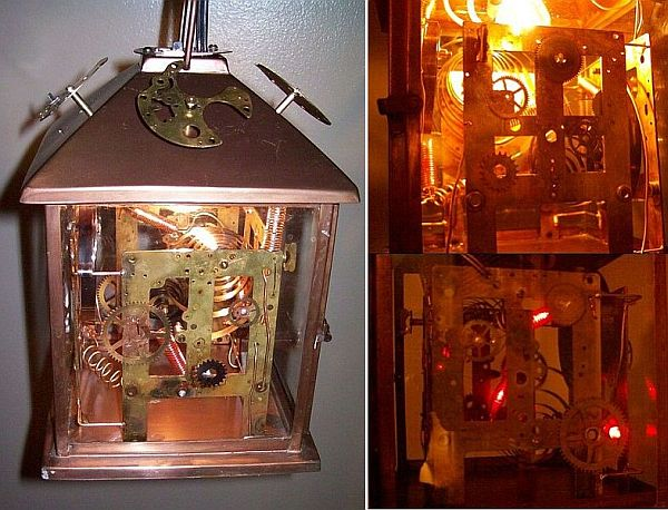 steampunk lamp with 2 circuits