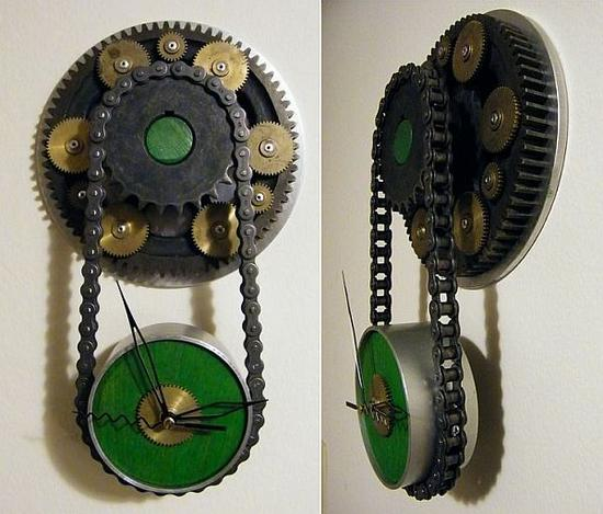 steampunk wall clock msnej 58