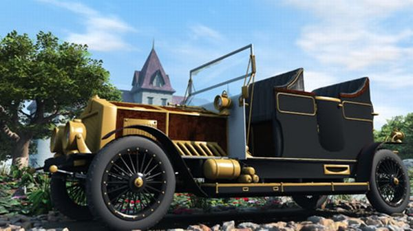 Steampunk Automobile 1888