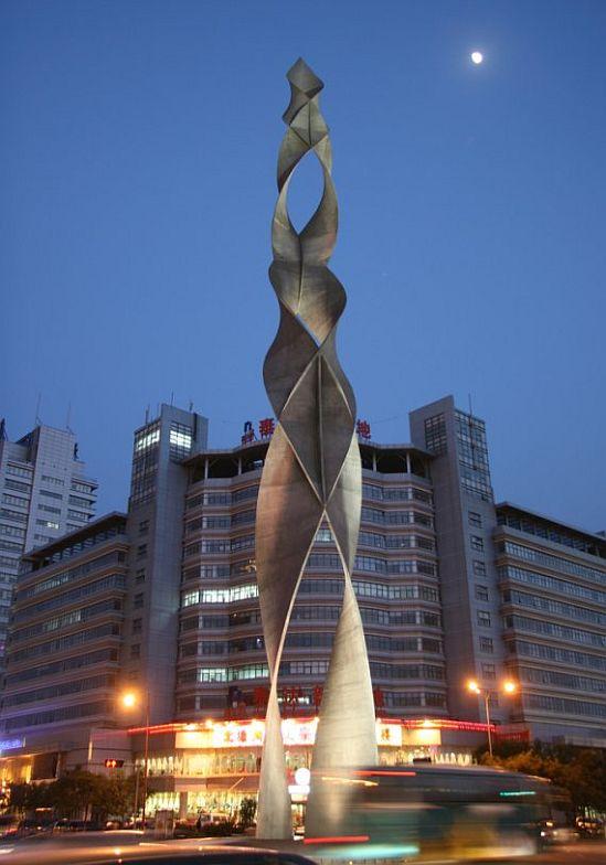 stunning public art sculpture in tianjin china