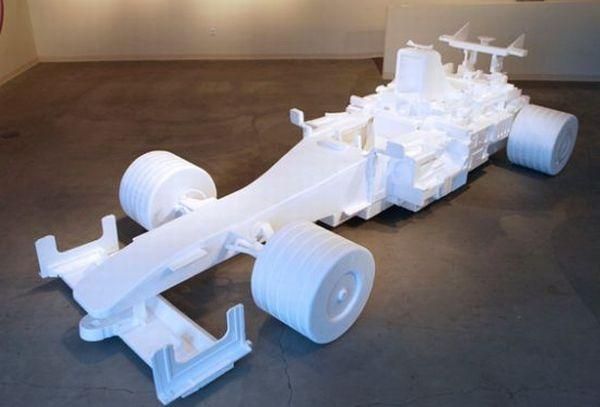 styrofoam Formula 1 racer