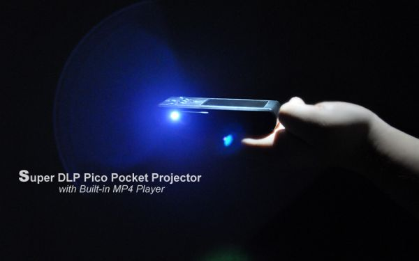 Super DLP Pico Pocket Projector with Built-in MP4 Player