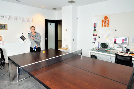Work Is Play With Table Amp Tennis An Office And Ping Pong