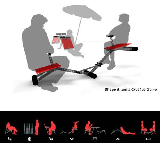 tangram chair concept 3