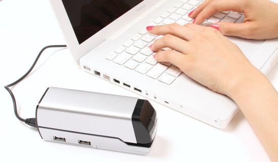 thanko stapler usb hub 01