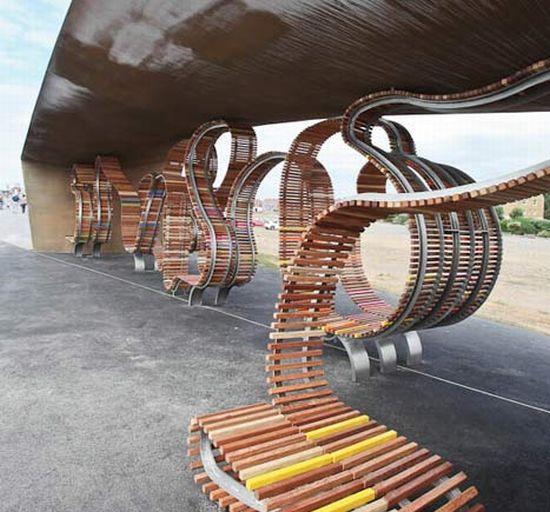 the longest bench by studio weave 2