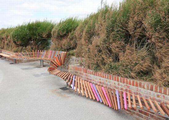 the longest bench by studio weave 3
