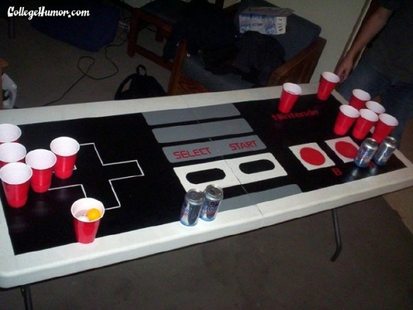 The Nintendo Beer Pong Table