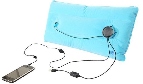 3. Towel with built-in speakers