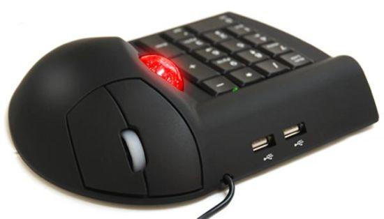 track ball mouse numeric keypad hub
