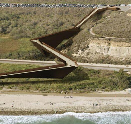 trestles beach footbridge