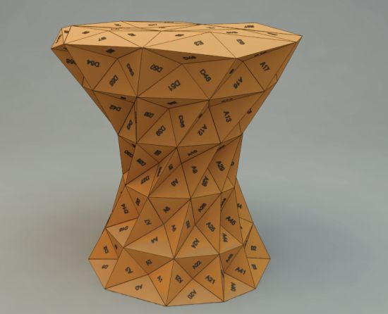 One Hundred Triangles Stool adds algorithmic comfort to ...