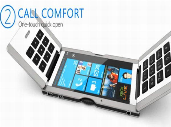 triple flip phone concept