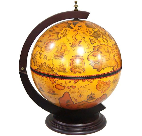 globe liquor cabinet turin table top italian replica globe hides a liquor 15933