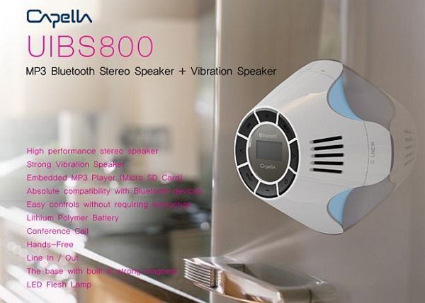 uibs800 mp3 bluetooth stereo and vibration speaker