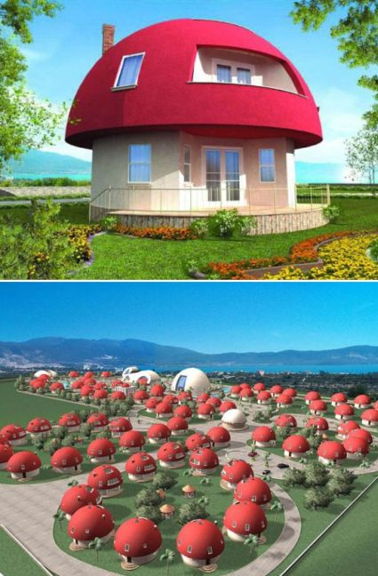 Unique Mushroom Shaped Holiday Homes Designbuzz