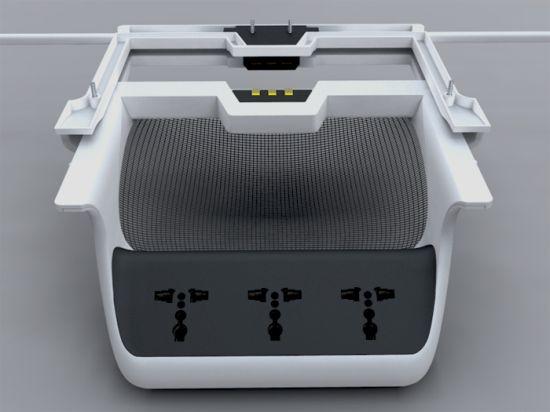 universal multi plug shelving system