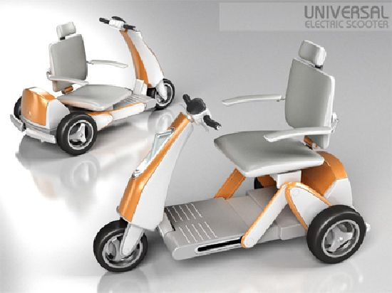Universal Electric Scooter For The Elderly And The Physically Challenged Designbuzz