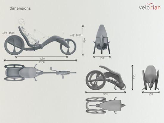 velorian folding recumbent trike 02