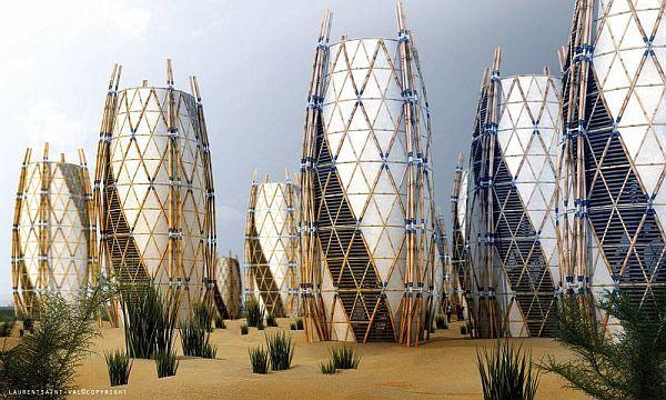 Vertical bamboo home