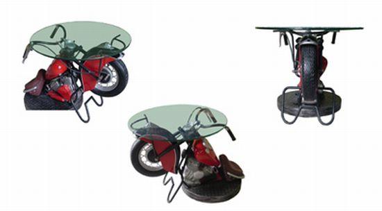 vintage bike side table 02