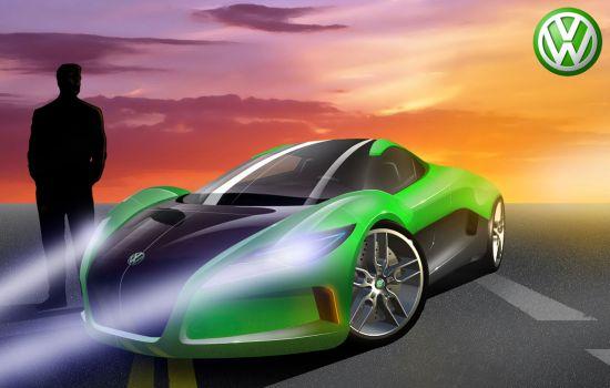 vw solar powered supercar concept 01