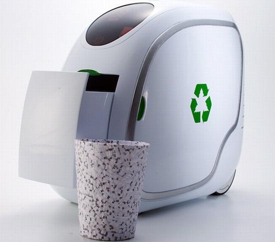 waste paper recycle trash bin