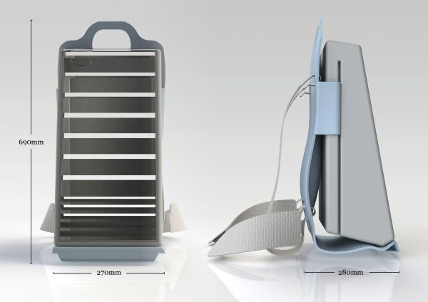 Water purifying backpack - Skoon