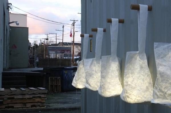 white hobo lanterns