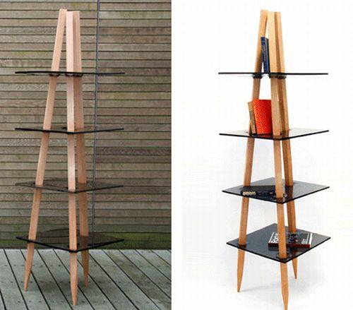 wood x plastic shelf