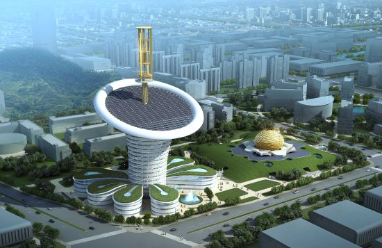 wuhan new energy centre wihan energy flower 3