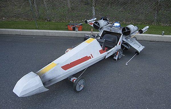 x wing fighter soapbox derby car