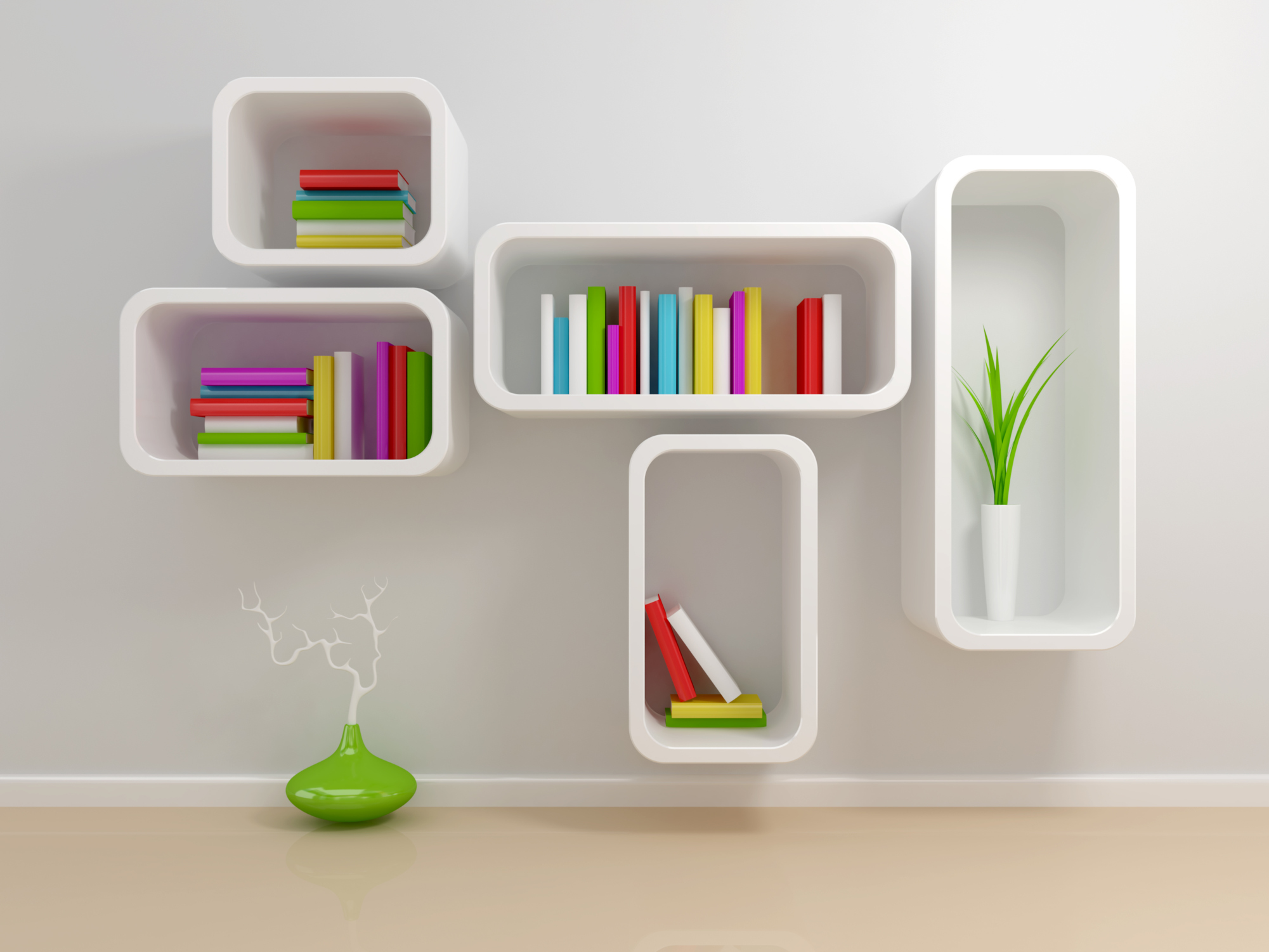 Modern Bookshelves Wall Shelves 2001 x 1501