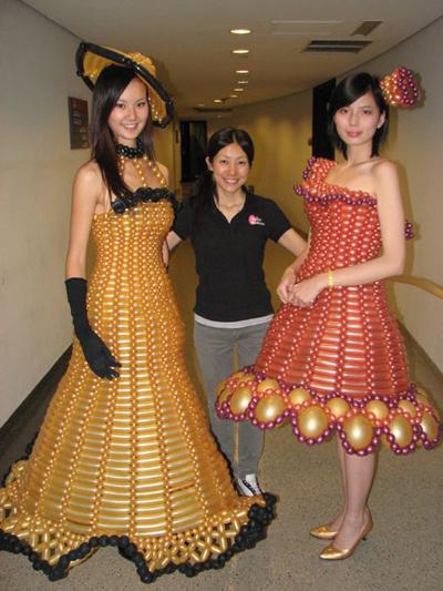 Как сделать из подручных материалов платье