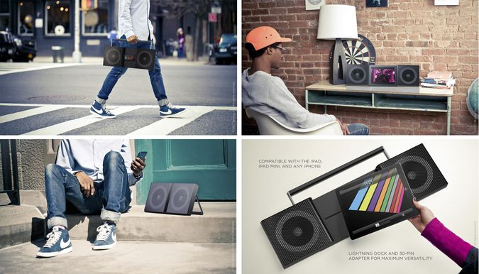 Beat Booster - The iPad, iPhone Ipod Touch Portable Adjustable Street Boom Box