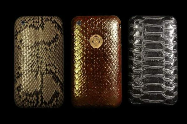 3 Apple iPhone Exotic Genuine Leather - Python, Cobra, Anaconda - Snake Skins