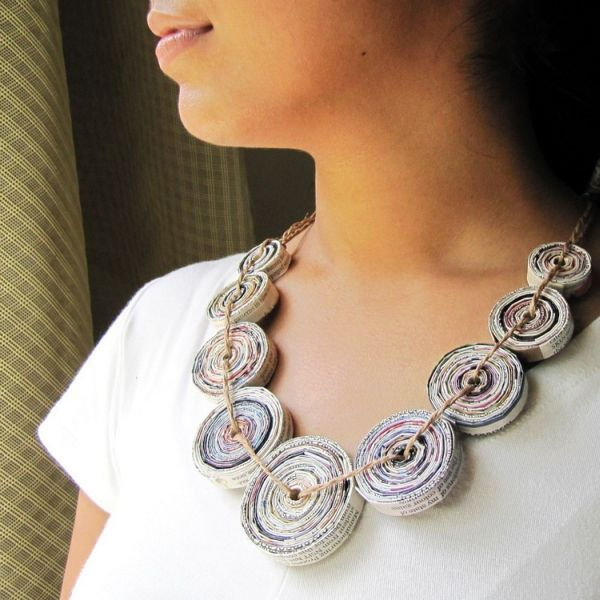 Paper-necklace-Recycled-Newspaper-Jewelry