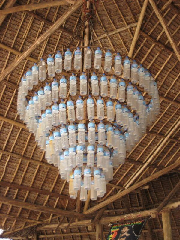 Plastic Water Bottle Chandelier