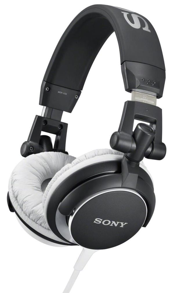 Sony_MDRV55_Black_Headphones_djkit