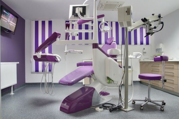 The-room-of-the-Royal-Dental-Office-in-purple-color