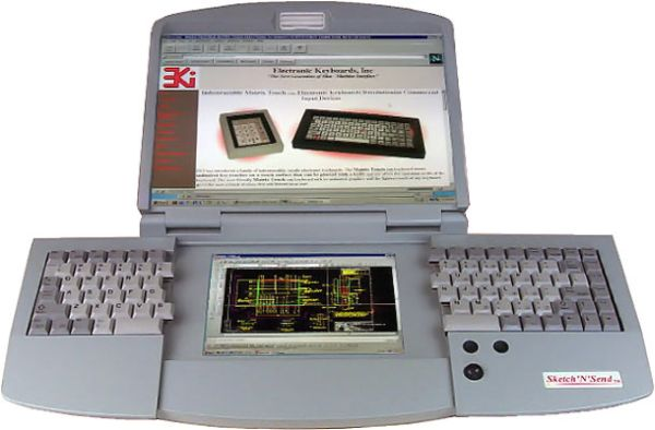ergonomic-dual-screen-split-keyboard-notebook-computer