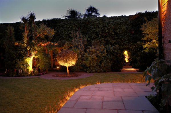 Light the outdoor to add spark to it