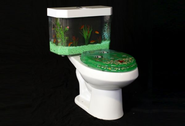 fish and flush Toilet