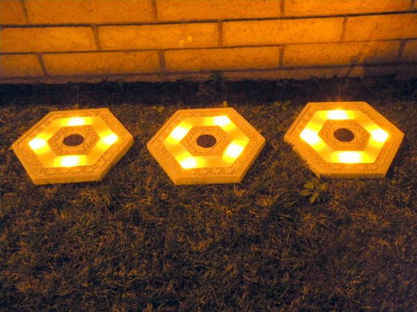 Garden Landscape Solar Lighted Stepping Stones