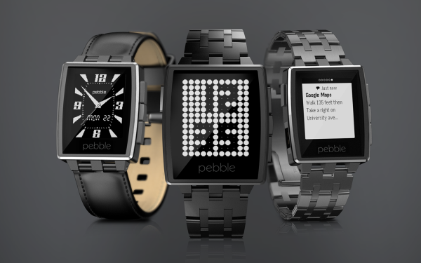 Pebble Steel Watch
