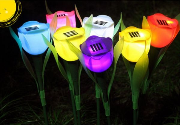 Solar Flower Outdoor Garden Lights
